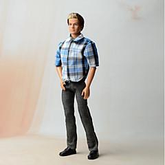 billiga Barbiekläder-Outfits Andra För Barbiedocka Linne/Bomull Blandning Icke vävt tyg Skjorta Byxor För Flicka Dockleksak