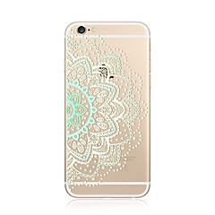 Недорогие Кейсы для iPhone 4s / 4-Кейс для Назначение Apple iPhone X / iPhone 8 Plus Прозрачный / С узором Кейс на заднюю панель Мандала / Кружева Печать Мягкий ТПУ для iPhone 8 Pluss / iPhone 8 / iPhone SE / 5s