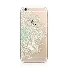 Hoesje voor iphone 7 plus 7 hoesje transparant patroon achterkant hoesje kant druk mandala soft tpu voor apple iphone 6s plus 6 plus 6s 6