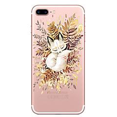 Недорогие Кейсы для iPhone X-Кейс для Назначение Apple iPhone X / iPhone 8 Прозрачный / С узором Кейс на заднюю панель Кот Мягкий ТПУ для iPhone 8 Pluss / iPhone 8