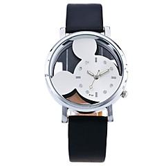 お買い得  レディース腕時計-女性用 スケルトン腕時計 リストウォッチ クォーツ ホット販売 PU バンド ハンズ カジュアル カトゥーン ファッション ブラック / 白 / ブルー - ブルー ピンク ブラック / ホワイト 1年間 電池寿命 / SSUO LR626