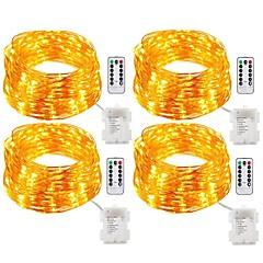 お買い得  LED ストリングライト-20m ストリングライト 200 LED 温白色 / ホワイト / マルチカラー 防水 / リモートコントロール / 調光可能 <5 V / IP65 / 変色