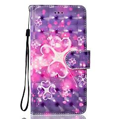 Недорогие Кейсы для iPhone 5-Кейс для Назначение Apple iPhone 7 Plus iPhone 7 Бумажник для карт Кошелек со стендом Флип Магнитный С узором Чехол С сердцем Твердый