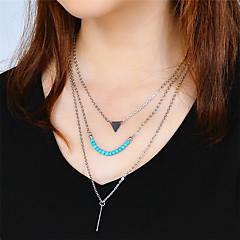 preiswerte Halsketten-Damen Dreieck Personalisiert Modisch Anhängerketten Türkis Türkis Aleación Anhängerketten . Alltag Normal Strasse Ausgehen