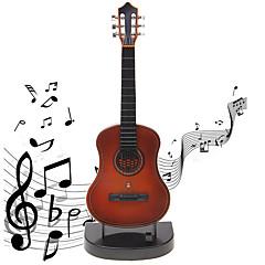 abordables Caja de Música-Caja de música Mini guitarra Guitarra Sonido Niños Adulto Regalo Chico Chica Regalo