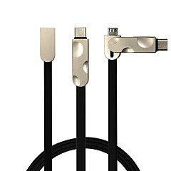 2 w 1 usb2.0 płaski kabel do samsung huawei sony nokia htc motorola lg lenovo xiaomi 100 cm pvc