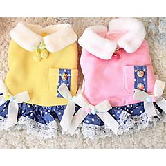 tanie Ubranka i akcesoria dla psów-Pies Suknie Ubrania dla psów Codzienne Kokarda Yellow Różowy Kostium Dla zwierząt domowych
