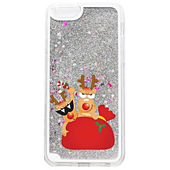 billige iPhone-etuier-Etui Til Apple iPhone 7 Plus iPhone 7 Flydende væske Mønster Bagcover Jul Glitterskin Hårdt PC for iPhone 7 Plus iPhone 7 iPhone 6s Plus