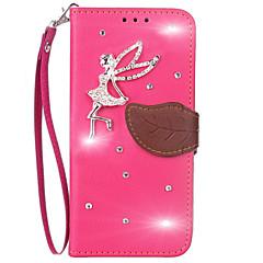 olcso Nokia tokok-Case Kompatibilitás Nokia Lumia 640 Lumia 535 Pénztárca Kártyatartó Strassz Állvánnyal Flip Teljes védelem Tömör szín Kemény Műbőr Bőr