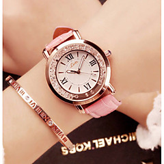 preiswerte Damenuhren-Damen Armbanduhr Quartz PU Band Analog Luxus Glanz Retro Schwarz / Weiß / Blau - Rot Blau Rosa Ein Jahr Batterielebensdauer / SSUO 377