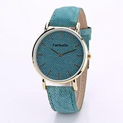 preiswerte Tolle Angebote auf Uhren-Damen Armbanduhr Chinesisch Chronograph / Wasserdicht PU / Stoff Band Freizeit / Modisch / Minimalistisch Blau / Edelstahl