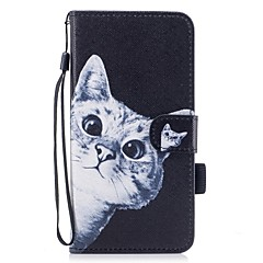 abordables Fundas para iPhone 5c-Funda Para Apple iPhone 7 / iPhone 7 Plus Cartera / Soporte de Coche / con Soporte Funda de Cuerpo Entero Gato Dura Cuero de PU para iPhone 7 Plus / iPhone 7 / iPhone 6s Plus