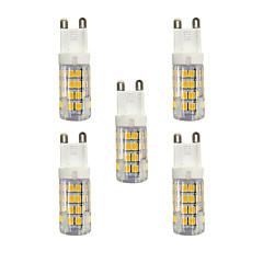 3W G9 Двухштырьковые LED лампы T 51 SMD 2835 240 lm Тёплый белый Белый 3000-3500/6000-6500 К AC 220-240 V 5 ед.