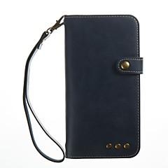 Кейс для Назначение Huawei P10 Plus P10 Кошелек Бумажник для карт Флип Чехол Сплошной цвет Твердый Искусственная кожа для Huawei P10 Plus