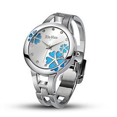 voordelige Armbandhorloges-Dames Kwarts Gesimuleerd Diamant Horloge Unieke creatieve horloge Modieus horloge Chinees Vrijetijdshorloge Legering Band Bangle Zilver