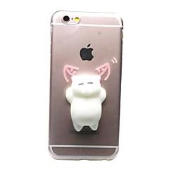お買い得  iPhone 5S/SE ケース-ケース 用途 Apple iPhone X / iPhone 8 / iPhone 8 Plus クリア / パターン / DIY バックカバー 猫 / 3Dカトゥーン ソフト TPU のために iPhone X / iPhone 8 Plus / iPhone 8