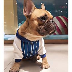お買い得  犬用ウェア&アクセサリー-犬 スウェットシャツ 犬用ウェア カジュアル/普段着 ファッション 縞柄 レッド ブルー コスチューム ペット用