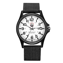 お買い得  メンズ腕時計-カップル用 リストウォッチ クール / パンク / 大きめ文字盤 生地 バンド ヴィンテージ / カジュアル / ファッション ブラック / ブルー / ブラウン