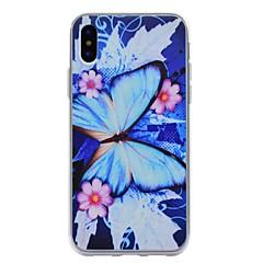 Назначение iPhone X iPhone 8 iPhone 8 Plus Чехлы панели С узором Задняя крышка Кейс для Бабочка Мягкий Термопластик для Apple iPhone X