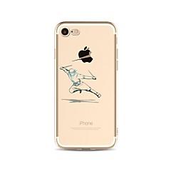 Назначение iPhone 7 Чехлы панели С узором Задняя крышка Кейс для Композиция с логотипом Apple Мультипликация Мягкий Термопластик для Apple