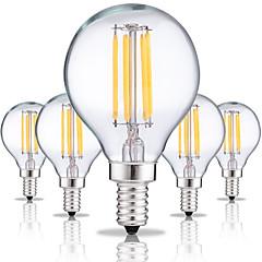 halpa LED-lamput-5pcs 4W 360 lm E14 LED-hehkulamput G45 4 ledit COB Koristeltu Lämmin valkoinen Kylmä valkoinen AC 220-240V