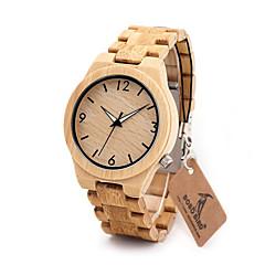 お買い得  メンズ腕時計-男性用 リストウォッチ 中国 クロノグラフ付き / 耐水 ウッド バンド チャーム / ぜいたく / カジュアル ブラウン