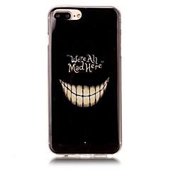 Недорогие Кейсы для iPhone X-Кейс для Назначение Apple iPhone X iPhone 8 Ультратонкий С узором Кейс на заднюю панель Halloween Мягкий ТПУ для iPhone X iPhone 8 Pluss