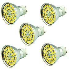 5 st 5W LED-spotlights 55 lysdioder SMD 5730 Dekorativ Varmvit Kallvit 800lm 3000-7000K AC 12V
