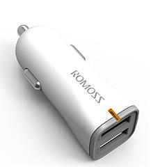 Недорогие Автоэлектроника-Быстрая зарядка Беспроводная связь Bluetooth 2 USB порта Только зарядное устройство DC 5V/2,4A