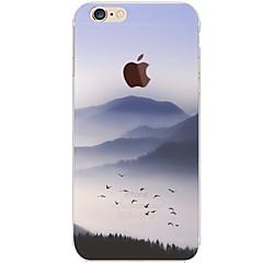 Назначение iPhone 7 iPhone 7 Plus Чехлы панели Ультратонкий Прозрачный С узором Задняя крышка Кейс для Пейзаж Мягкий Термопластик для