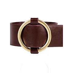 お買い得  ブレスレット-女性用 レザー レザーブレスレット  -  ファッション 調整可能 円形 オレンジ Brown レッド ブレスレット 用途 日常 お出かけ