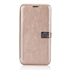 Недорогие Кейсы для iPhone-Кейс для Назначение Apple iPhone X iPhone X Бумажник для карт Флип Магнитный Чехол Сплошной цвет Твердый Кожа PU для iPhone X