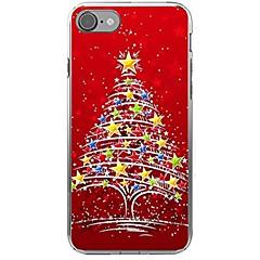 Недорогие Кейсы для iPhone 7 Plus-Кейс для Назначение Apple iPhone X iPhone 8 С узором Кейс на заднюю панель Рождество Мягкий ТПУ для iPhone X iPhone 8 Pluss iPhone 8