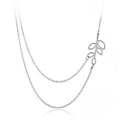 preiswerte Halsketten-Damen Ketten - Blattform Retro, Böhmische, Modisch Silber Modische Halsketten Für Geschenk, Alltag, Normal