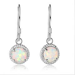 Γυναικεία Κρίκοι κοσμήματα πολυτελείας Ασήμι Στερλίνας Geometric Shape Κοσμήματα Για Γάμου