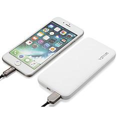 お買い得  モバイルバッテリー-電池充電器の過放電保護/過充電保護/短絡保護/ケーブル付きのための電源バンクの外付けバッテリー5 vの2つのvのための6000 mah waza