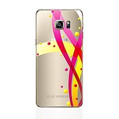 tanie Galaxy S6 Edge Etui / Pokrowce-Kılıf Na Samsung Galaxy S8 Plus S8 Przezroczyste Wzór Etui na tył Linie / fale Miękkie TPU na S8 Plus S8 S7 edge S7 S6 edge plus S6 edge