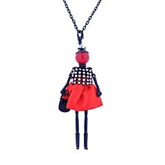 preiswerte Halsketten-Damen Anhängerketten - Spitze Prinzessin Luxus, Böhmische, Boho Dunkelblau, Rot, Leicht Grün Modische Halsketten Für Normal, Klub