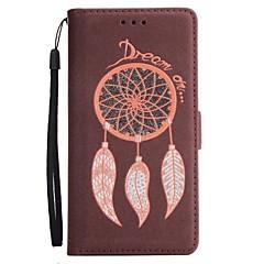 Недорогие Чехлы и кейсы для Galaxy Note 5-Кейс для Назначение SSamsung Galaxy Note 8 Note 5 Бумажник для карт Кошелек со стендом Флип Магнитный Чехол Сияние и блеск Ловец снов