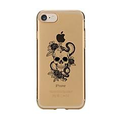 tanie Etui do iPhone 4s / 4-Na iPhone 7 iPhone 7 Plus Etui Pokrowce Przezroczyste Wzór Etui na tył Kılıf Czaszki Miękkie Poliuretan termoplastyczny na Apple iPhone 7