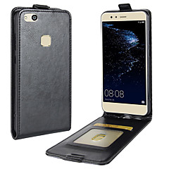 Case For Huawei P10 Lite Card Holder Flip Full Body Solid Color Hard PU Leather for Huawei P10 Lite Huawei P8 Lite (2017) Huawei Honor 9
