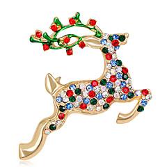 Damskie Broszki Rhinestone Modny Chrismas Stop Biżuteria Biżuteria Na Święta Bożego Narodzenia