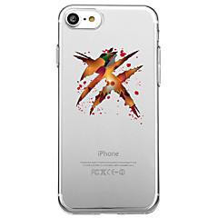 Недорогие Кейсы для iPhone X-Кейс для Назначение Apple iPhone X iPhone 8 Прозрачный С узором Кейс на заднюю панель Halloween Мультипликация Мягкий ТПУ для iPhone X