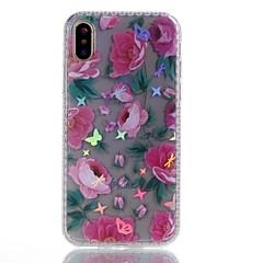 Назначение iPhone X iPhone 8 Plus Чехлы панели Покрытие IMD С узором Задняя крышка Кейс для Бабочка Цветы Мягкий Термопластик для Apple