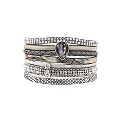 preiswerte Armbänder-Damen Lederarmbänder - Leder Personalisiert, Modisch Armbänder Rot / Rosa / Hellblau Für Geschenk Alltag