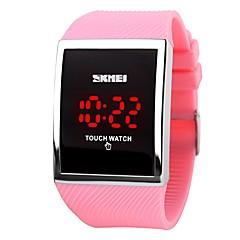 voordelige Smartwatches-skmei hot sale promotie mode led horloge voor dames digitale armband horloges vrouwen touch screen elektronische horloges