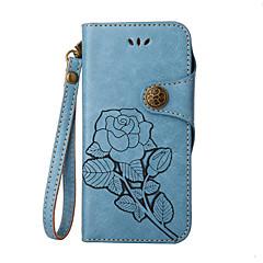 для чехлов крышка держатель карты кошелек с подставкой флип тиснение полный корпус корпус цветок твердый кожа pu для xiaomi xiaomi redmi
