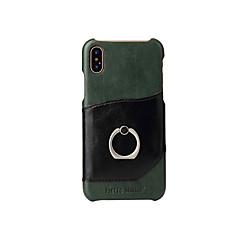 Назначение iPhone X Чехлы панели Бумажник для карт Кольца-держатели Задняя крышка Кейс для Сплошной цвет Твердый Натуральная кожа для