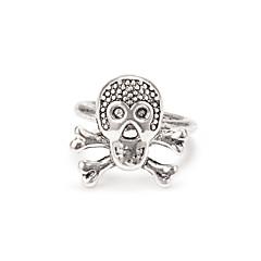 お買い得  指輪-女性用 ナックリリング  -  合金 スカル オリジナル ワンサイズ シルバー 用途 日常 祭り