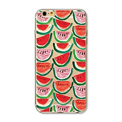 Недорогие Кейсы для iPhone 6-Кейс для Назначение Apple iPhone X iPhone 8 С узором Кейс на заднюю панель Фрукты Мягкий ТПУ для iPhone X iPhone 8 Pluss iPhone 8 iPhone